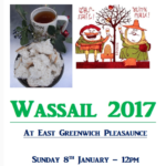 Join Us for Wassail at East Greenwich Pleasaunce on 8th Jan 2017